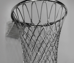 Basketball basket milled with 5-axis technology